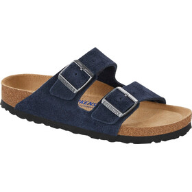Birkenstock Arizona Soft Footbed Sandalias Cuero Ante, navy